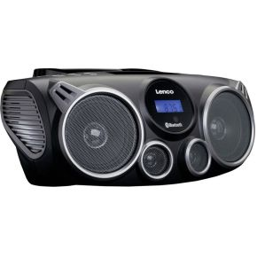 Lenco SCD-100 FM CD-radio AUX, Bluetooth, CD, SD, FM, USB Zwart