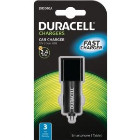 2-Power Duracell Car Charger (no cable) 2.4 Amp (DR5010A)