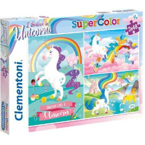 Puzzel Unicorn 3x48 st.