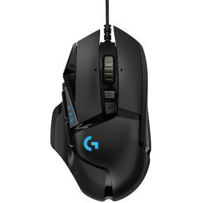 Logitech G502 Hero USB Optisch 16000DPI Rechtshandig Zwart muis