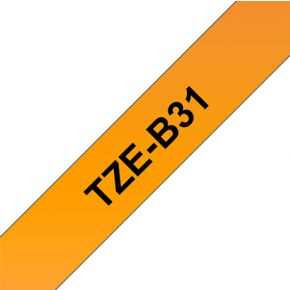 Image of Brother TZE-B31 - 12 mm Black/Orange Fluo
