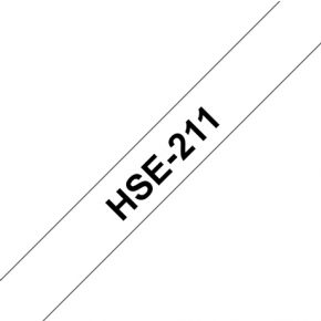Image of Brother HSE-211 58 mm Black/White Heat Shrink T
