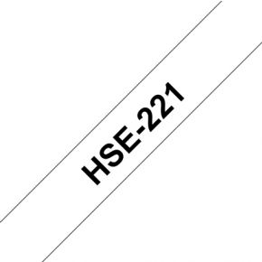 Image of Brother HSE-221 88 mm Black/White Heat Shrink T