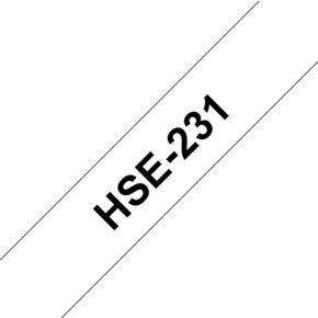 Image of Brother HSE-231 117 mm Black/White Heat Shrink
