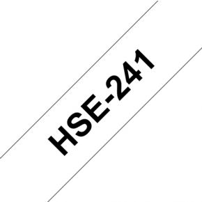Image of Brother HSE-241 177 mm Black/White Heat Shrink