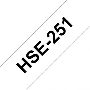 Image of Brother HSE-251 236 mm Black/White Heat Shrink