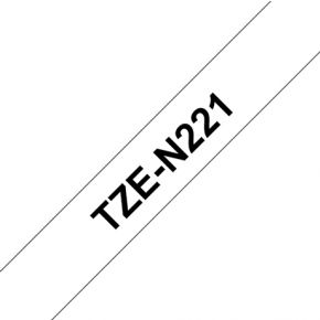 Image of Brother TZE-N221 - 9 mm Black/White