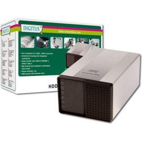 Image of Digitus DA-70525 external 2 HDD case USB2 en eSATA