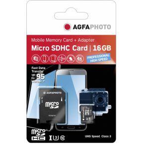 Image of AgfaPhoto 16 GB microSDHC-card Class10 UHS-1 U3
