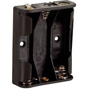 Image of Batterijhouder Voor 3 X Aa-cel (voor Soldeerlippen)