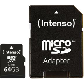Intenso MICRO SD CARD 64GB CL10 (3413490)