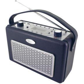 Soundmaster TR50DB Retro Radio met USB Donkerblauw
