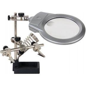 Image of Derde Hand Met Vergrootglas, Led-lamp En Soldeerbouthouder