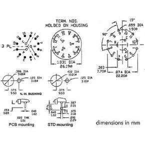 Image of Draaischakelaar 3p / 4 Standen - Pcb Montage