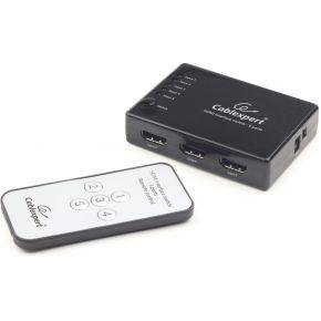 Gembird HDMI Switch Gembird 5 ingangen -> 1 uitgang 4k +Fernbed. (DSW-HDMI-53)