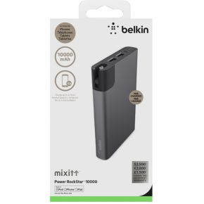 Belkin MIXIT RockStar Power Pack grau 10000mAh Light.-Micro-Kabel