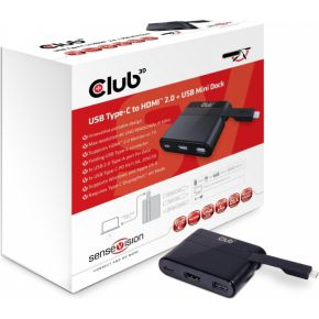 CLUB3D Club3D Adapter USB 3.0 Type C > HDMI 2.0-UBS-USB-C (MiniDock) retail (CSV-1534)