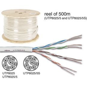 Utp Kabel Cat5e 4 X 2 X 0.51mm Ivoor-4 Twisted Pairs 100m