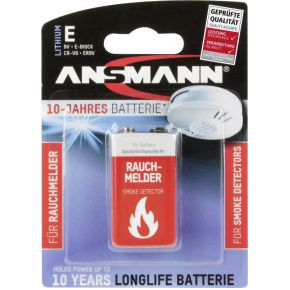 Image of 1 Ansmann Lithium 9V-Block speciaal voor rookmelder