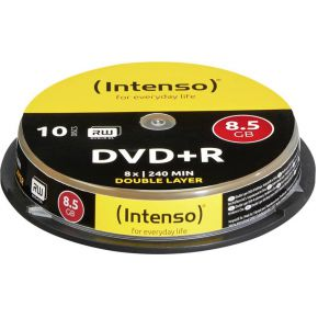 Image of 1x10 Intenso DVDR 8.5GB 8x Speed. dubbel laags Cakebox