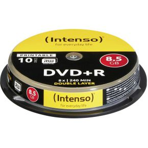 Image of 1x10 Intenso DVD+R 8,5GB 8x Speed, dubbel laags printable