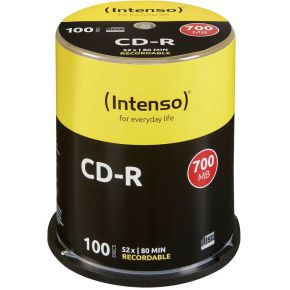Image of 1x100 Intenso CD-R 80 / 700MB 52x Speed, Cakebox