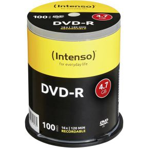 Image of 1x100 Intenso DVD-R 4,7GB 16x Speed, Cakebox