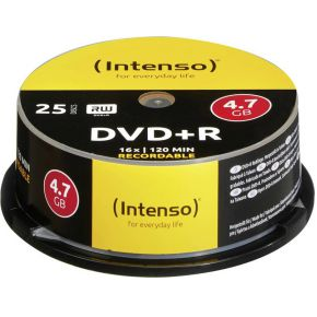 Image of 1x25 Intenso DVD+R 4,7GB 16x Speed, Cakebox
