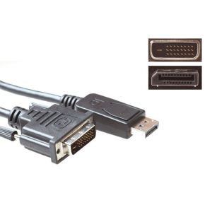 Advanced Cable Technology Verloopkabel DisplayPort male DVI male, 3.0m (AK3997)