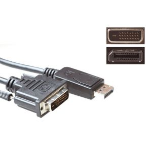 Advanced Cable Technology Verloopkabel DisplayPort male DVI male, 5.0m (AK3998)