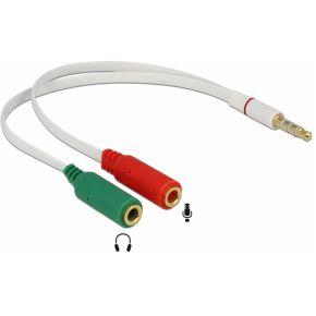 Jack splitter kabel Microfoon en audio Delock