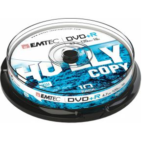 Image of Emtec Dvd+R 4,7Gb 16X Cb Cakebox (10 St/Pcs) ECOVPR471016CB