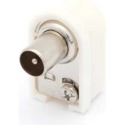 Image of Haakse Tv-plug 9.5mm/2.3mm - Mannelijk - Wit - (10 st.)