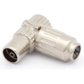 Image of Haakse Tv-plug 9.5mm/2.3mm - Vrouwelijk - Metaal - (5 st.)