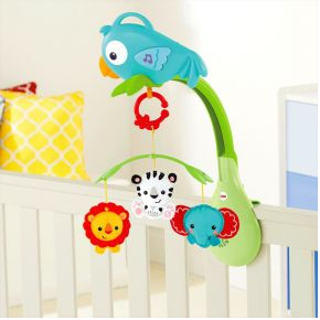 Fisher-price 3in1 musical mobile, rainforest