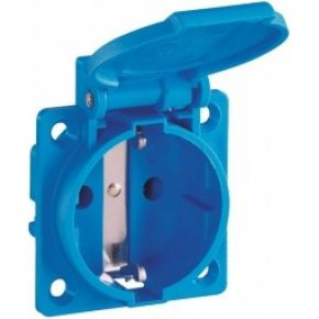 Image of 1461050 - Socket outlet protective contact blue 1461050