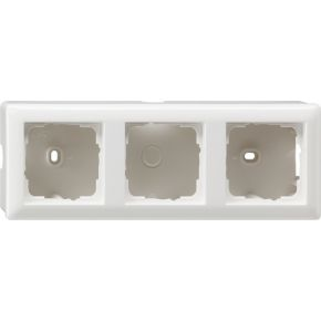 Image of 006303 - Surface mounted housing 3-gang white 006303