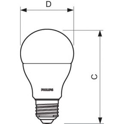 Image of CoreLEDBulb#49074700 - LED-lamp/Multi-LED 220...240V E27 white CoreLEDBulb#49074700