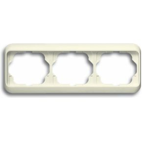 Image of 1723-22G - Frame 3-gang cream white 1723-22G