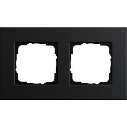 Image of 0212126 - Frame 2-gang black 0212126
