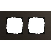 Image of 0212127 - Frame 2-gang brown 0212127