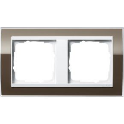 Image of 0212763 - Frame 2-gang brown 0212763