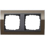 Image of 0212768 - Frame 2-gang brown 0212768