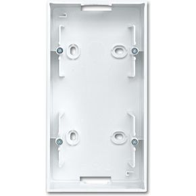 Image of 1702-914 - Surface mounted housing 2-gang white 1702-914