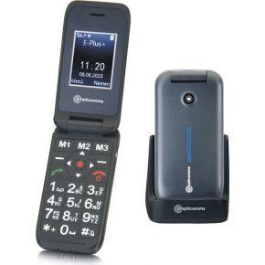 Amplicomms PowerTel M6700L mit Ladeschale Senioren clamshell telefoon Zwart