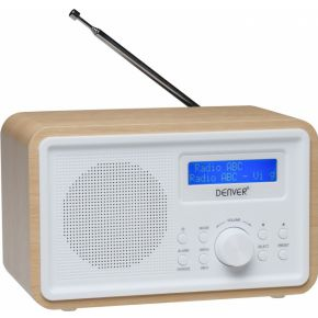 Image of DAB-35 - DAB+/FM radio with wooden cabinet - Denver Electronics