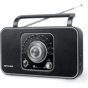 Muse M-068 R, wereldontvanger, Transistorradio, FM, Middengolf, Langegolf, Kortegolf, Zwart