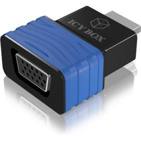 Raidsonic HDMI Adapter IcyBox HDMI -> VGA St-Bu IB-AC516 (b-bl) (IB-AC516)