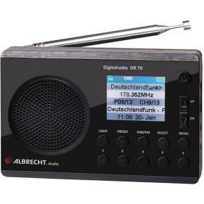 Image of Albrecht DR 70 Draagbaar Digitaal Zwart radio
