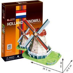 Cubic Fun 3D Puzzel Holland Molen 45-delig